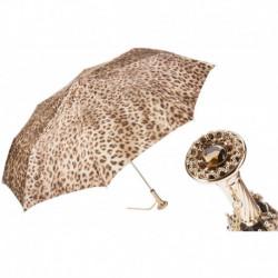 Pasotti Parasol damski  składany 257 52417-16 P12 - Leopard Folding Umbrella