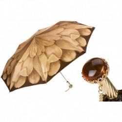 Pasotti Parasol damski  składany 257 21065-40 A29 - Beige Dahlia Folding Umbrella