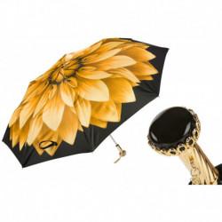 Pasotti Parasol damski  składany 257 21273-6 A29 - Golden Flower Beautiful Folding Umbrella