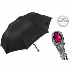 Pasotti Parasol męski  składany 64 Oxf-18 W68 - Ruby Luxury Umbrella, Red Gem Handle