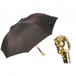 Pasotti Parasol męski  składany 64 6768-3 W41or - Golden Horse Folding Umbrella