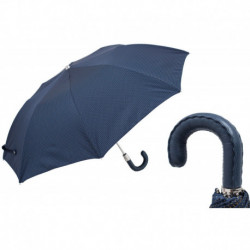 Pasotti Parasol męski  składany 64 Pto CN4 N36 - Folding Umbrella with Leather Handle