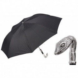 Pasotti Parasol męski  składany 64 6277-1 W31 - Head of Snake Folding Umbrella