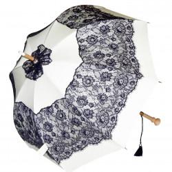 GdJ Parasol damski Sissi w kolorze kości słoniowej, przeciwdeszczowy i przeciwsłoneczny (UV), Guy de Jean