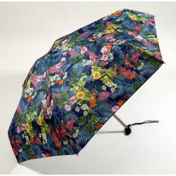 GdJ Parasol damski składany FLEURS, MARINE, Guy de Jean