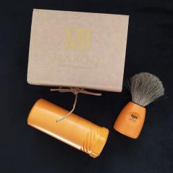 Zestaw prezentowy pomarańczowy pędzel w tubie w kartonowym pudełku prezentowym