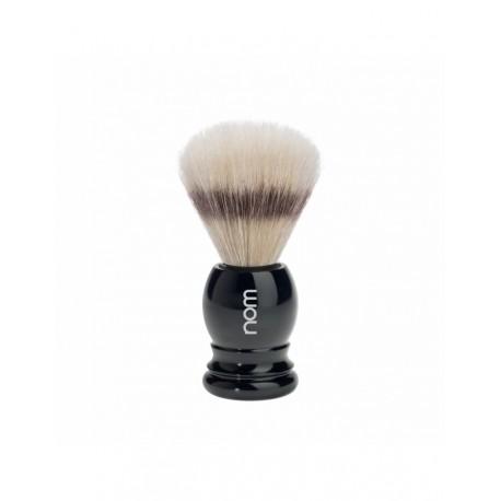 Nom Pędzel do golenia, naturalna szczecina, czarny uchwyt