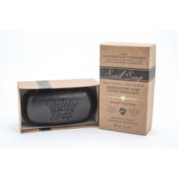 Saponificio Varesino Black Vanilla Scrub Soap  300g,  mydło kąpielowe, węgiel drzewny