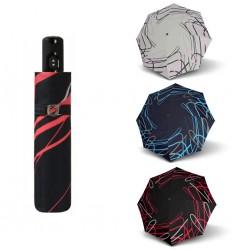 Doppler Parasol składany Magic Carbonsteel BREEZE 744765BR03, czarny + czerwony