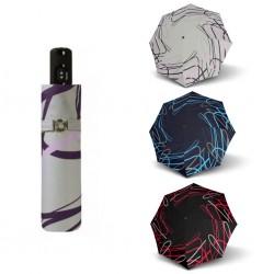 Doppler Parasol składany Magic Carbonsteel BREEZE 744765BR01, szary + fiolet