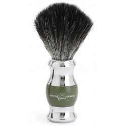 EJ, Pędzel do golenia, włosie syntetyczne czarne, Zielony, chromowany