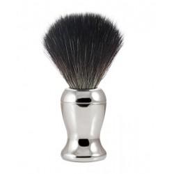 Pędzel do golenia, włosie syntetyczne czarne, chromowany