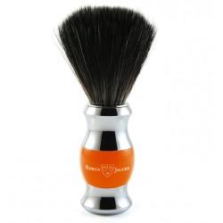 Pędzel do golenia, włosie syntetyczne czarne, orange, chromowany