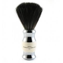 Pędzel do golenia, włosie syntetyczne czarne, kolor kość słoniowa, chromowany