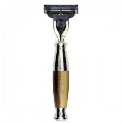 EJ, R35211 Maszynka do golenia Edwin Jagger Mach, brąz + chrom