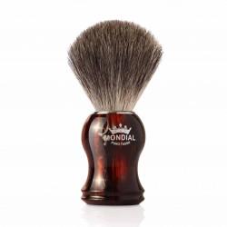 Mondial GORDON, pędzel do golenia, skorupa żółwia, 100% Grey Badger