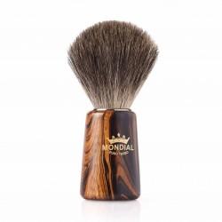 Mondial MORGAN, pędzel do golenia, drewniana rączka, 100% Pure Badger