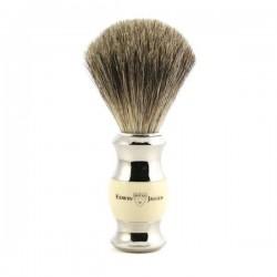 EJ, 81SB35711 Pędzel do golenia E.Jagger, pure badger, biały + chrom
