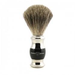 EJ, 81SB35611 Pędzel do golenia E.Jagger, pure badger, czarny + chrom