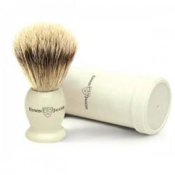 EJ, IVTSBbb Pędzel do golenia Premium z tubą podróżną, best badger, kość słoniowa