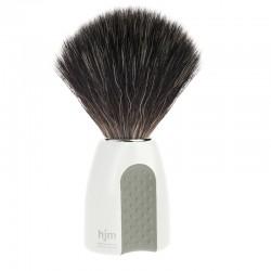 Pędzel do golenia, 21 P 8 W/GR, HJM, syntetyk BLACK FIBRE, biała rączka
