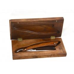 Eleganckie drewniane pudełko na brzytwę