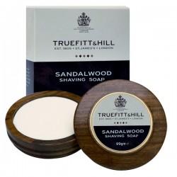 T&H Sandalwood - mydło do golenia 90g w drewnianym tyglu