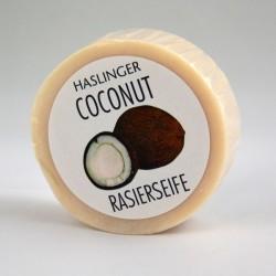 Haslinger, Ekstremalnie nawilżające kokosowe mydło do golenia 60g dla skóry suchej