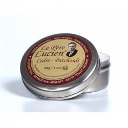 Le Pere Lucien, Cedar & Patchouli, miękkie mydło do golenia 98g w metalowym tygielku