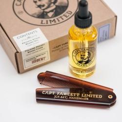 Zestaw Captain Fawcett's - olejek i grzebień do brody