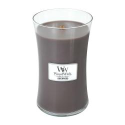 WoodWick®, Duża Świeca - Birchwood,  brzoza, drzewo różane, zielone trawy i ambra, 175 godzin!