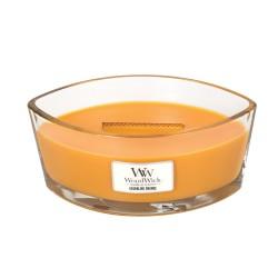 WoodWick®, Świeca Hearthwick -Aromatyczne połączenie soczystych cytrusów, jagód goi, maków, złotego piżma, 50 godzin