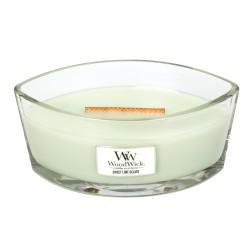 WoodWick®, Świeca Hearthwick -skórka cytrynowa i soczysta limonka harmonijnie połączone z chrupiącym karmelem, 50 godzin