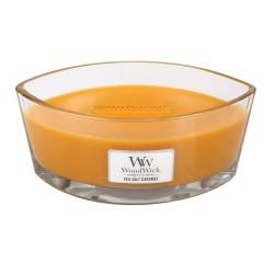 WoodWick®, Świeca Hearthwick - Powrót do dziecięcych wspomnień, słodycz karmelków z dodatkiem śmietanki, 50 godzin