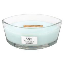 WoodWick®, Świeca Hearthwick -  świeżo wysuszone pranie, owoce i piżmo, 50 godzin