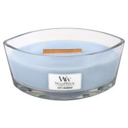 WoodWick®, Świeca Hearthwick - Soft Chambray, Aromat miękkiej tkaniny, jaśmin i róża, 50 godzin