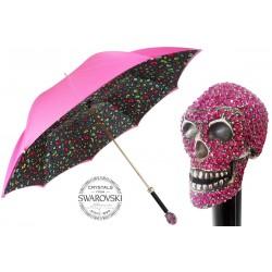PASOTTI Parasol Damski Crazy Camo Swarovski Skull, 189N 5E367-5 W333fu, podwójny baldachim