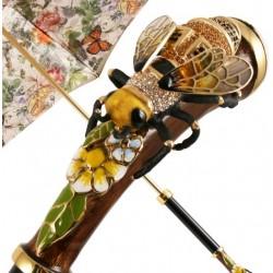 PASOTTI Parasol Damski Luxury Swarovski Bee, 189 5D557-1 K15