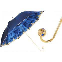 PASOTTI Parasol Damski Luxury Blue Dahlia
