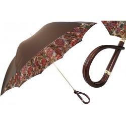 PASOTTI Parasol Damski BROWN FLOWERED INRERIOR