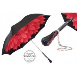 PASOTTI Parasol Damski Red Dahlia Black Exterior