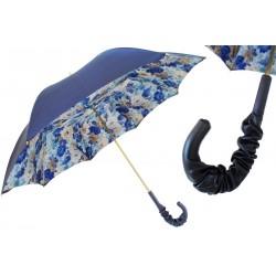 PASOTTI Parasol Damski Blue Flowers,189 51123 30 A35, podwójny baldachim