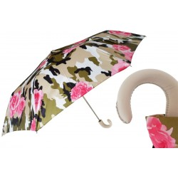 Parasol Pasotti Camouflage Folding with Roses, 257 53078-18 P