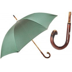 Parasol Pasotti Dark Green Wooden with Red Dots, 142 Pto CN9 CBR
