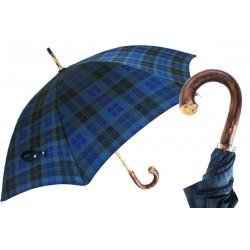Parasol Pasotti Blue Tartan, Chestnut Handle, 142 Celtic-8 CR