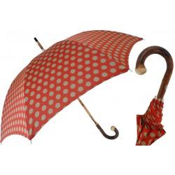 Parasol Pasotti Hexagon Print Fabric, Chestnut Handle, 142 Esag-9 CR