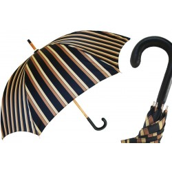 Parasol Pasotti Classic Leather Handle Striped, 140 Alfred-8 P