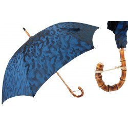 Parasol Pasotti Navy Blue Camouflage with Bamboo Handle, 142 11780-126 B