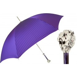 Parasol Pasotti  Purple  with Silver Lion Handle, 478 1084-7 W37PV