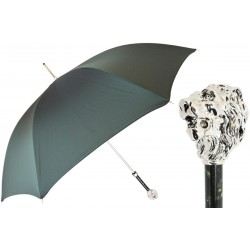 Parasol Pasotti  Green, Silver Lion Handle, 478 6768-6 W37PV